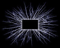 Electrified commercial rectangle sign Royalty Free Stock Photography