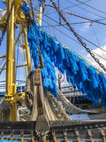 Electrified and devastating fishing net Stock Image