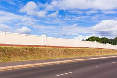 Electrified Fence Boundary Wall Royalty Free Stock Images