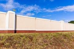Electrified Fence Boundary Wall Stock Photo