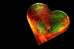 Electrified Heart Stock Photo