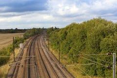 Electrified railway Stock Photo