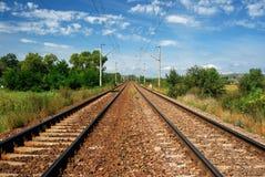Electrified railway Royalty Free Stock Photos