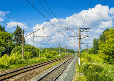 Electrified railway Stock Images
