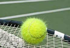 Electrified tennis ball stock photography