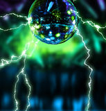 Electrifying disco mirror ball. Night club background royalty free illustration