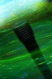 Electrifying microphone. Microphone surround with special lighting effect Royalty Free Stock Image