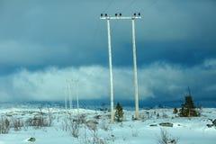 Electro линия электропередач Стоковая Фотография RF