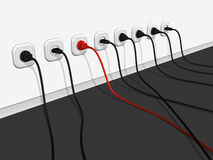electro линия одно уникально Стоковые Фотографии RF