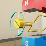 Electro магнитная индукция иллюстрация штока