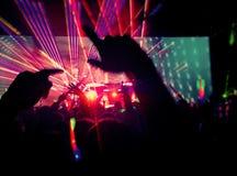 Electro музыка - концерт Стоковое Изображение