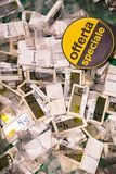 Electro оценка для товаров в Pam супермаркета стоковое изображение rf