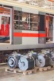 Electro actuadores para el mantenimiento de los carros del subterráneo Fotografía de archivo