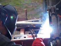 Electro arc welding. Use of electro arc welding Stock Images