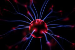 Electro Ball. Abstract view of an electro ball royalty free stock photo