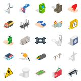 Electro business icons set, isometric style. Electro business icons set. Isometric set of 25 electro business vector icons for web isolated on white background Stock Photos