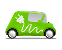 Electro car cartoon safe ecology Stock Photos
