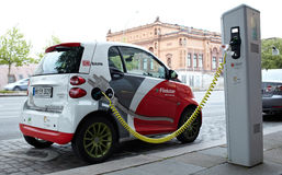Electro car is charging