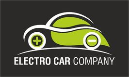 Electro Car Company Logo Design Isolated. Electro Car Company Logo Design or Icon Isolated in Ai Format Stock Photography