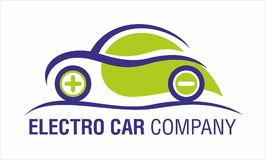 Electro Car Company Logo Design Isolated Fotografia Stock Libera da Diritti