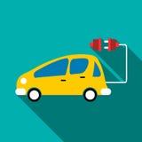 Electro car icon, flat style. Electro car icon. Flat illustration of electro car vector icon for web vector illustration