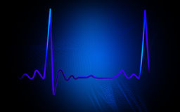 Electro Cardio Graph. Digital illustration  of electro cardio graph in colour background Stock Image
