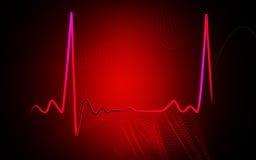 Electro Cardio Graph. Digital illustration of electro cardio graph in colour background vector illustration