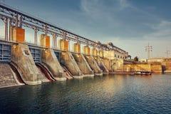 Electro central hidroeléctrica Foto de archivo libre de regalías
