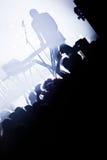 Electro concierto y muchedumbre imágenes de archivo libres de regalías