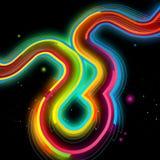 Electro curva retra libre illustration