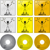 Electro disc covers Stock Images
