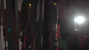 Electro equipo de deportes del estímulo del ccsme almacen de video