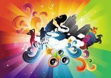 Electro explosão do arco-íris Fotos de Stock Royalty Free