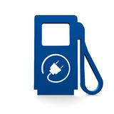 Electro filling station. In blue Stock Photos