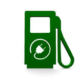 Electro filling station.  in green Royalty Free Stock Photography