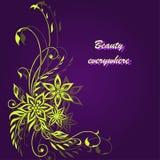 Electro fondo floral fantástico Fotografía de archivo libre de regalías