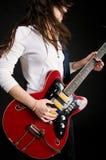 electro gitarr Arkivbild