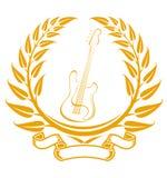 Electro guitar symbol Royalty Free Stock Photo