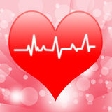 Electro On Heart Shows Beating Heart Or Royalty Free Stock Photography
