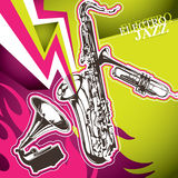 Electro jazz banner Royalty Free Stock Images