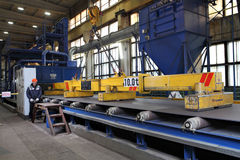 Electro lifting magnets for attracting and lifting steel plate, Stock Image