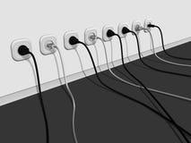 electro linje en royaltyfri illustrationer