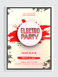Electro Musical Party Flyer or Banner. Royalty Free Stock Photography