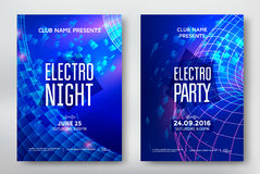 Electro night flyer. Electro night and electro party poster template design. Music club background. Vector illustration vector illustration