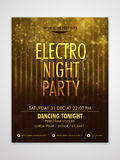Electro Night Party Flyer, Banner or Template. Royalty Free Stock Photos