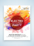 Electro Party celebration Flyer or Banner. Royalty Free Stock Photos