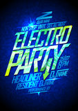 Electro party design Royalty Free Stock Photos