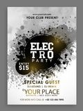 Electro Party Flyer, Template or Banner design. Royalty Free Stock Photos