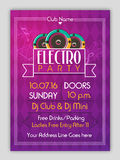 Electro Party Flyer, Template or Banner design. Royalty Free Stock Photo