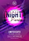 Electro party music night poster template. Electro style concert disco party event invitation- Vector. Electro party music night poster template. Electro style stock illustration
